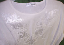 Lovely STRETCHY top t-shirt size M - L, LA FEMME SILKY EGG SHELL COLOUR