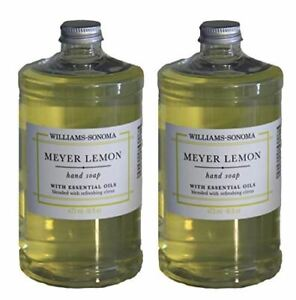 Williams Sonoma Meyer Lemon / Two Hand Soaps 16 oz With Pumps