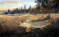 "Terry Doughty ""Muskie Bay Fishing  Art Print-  12""x 7.75"""