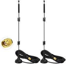 2-Pack 12dBi Dual Band 2.4/5.8GHz MiMo WiFi Wireless Antenna with Magnetic Base