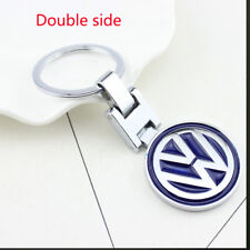 Metal Double Side Car Logo Keyring Key Chains Pendant Holder For VW Golf