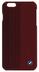 BMW Official iPhone 6 6S Plus Red Perforated Signature Hard Case BMHCP6LPER
