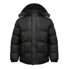 NWT Men's WARM Puffer Jacket Bubble Coat Fleece lined Zip-off hood Size S-6XL