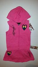 Ed Hardy Girls 2 PC Set Jacket Vest & Skort Outfit Size 5