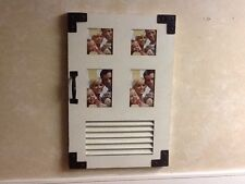 "Handmade Wood 4 Picture Frame 4X6"" Photos wall mounted white/black mixed Materia"