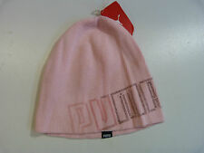 BRAND NEW WOMENS LADIES PUMA SOFT BEANIE ONE SIZE PINK 100% COTTON