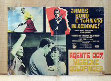 AGENTE 007, MISSIONE GOLDFINGER fotobusta poster Sean Connery James Bond CU12