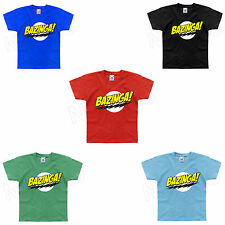 Bazinga The Big Bang Theory Inspired Funny Geek Kids T-Shirt 1-2 to 12-13 Years