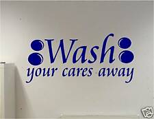 WALL ART vinyl art decal sticker  WASH - BATHROOM