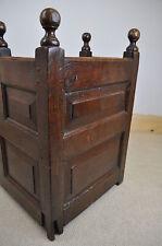 antique 18th century panelled oak cradle