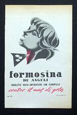 C630 - Advertising Pubblicità - 1953 - FORMOSINA TAVOLETTE SULFA-ANTIBIOTICHE