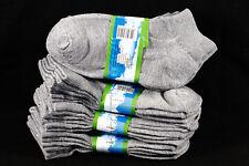 4-6 Kid's Boys Girls Ankle Cut Comfort Light Gray Socks Cotton Spandex Junior