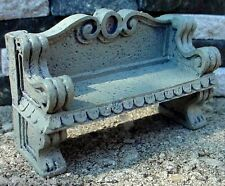 Concrete Garden Bench Miniature 1/24 Scale G Scale Diorama Accessory Item