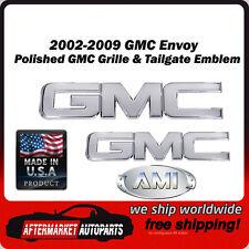 2002-2009 GMC Envoy Polished Billet GMC Grille & Tailgate Emblem AMI 96510P