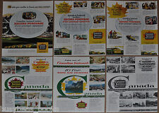 1954-55 CANADIAN NATIONAL RAILWAY adverts x6, new FPA-2 engines