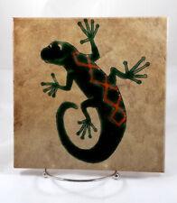 """Ceramic Tile Trivet - Lizard or Gecko - Made In Italy - 8"""" Square"""