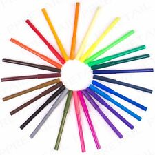 24Pc WASHABLE FELT TIP PENS Bright Long Lasting Colouring Markers Kids Art Craft