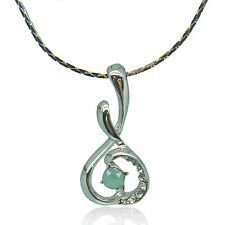14k white Gold plated crystals melody pendant necklace with Swarovski elements