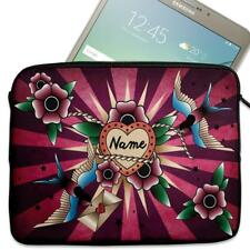 "Personalised Tablet Case SWALLOW Neoprene Sleeve Cover 7"" 8"" 9"" 10"" SH252"