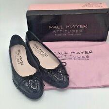 Paul Mayer Attitudes Womens Best B/W Ballet Flats 7 & 6 Medium (B,M) BHFO 2486