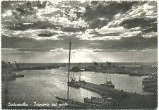 CIVITAVECCHIA - TRAMONTO SUL PORTO (ROMA) 1964