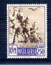 SAN MARINO - PA - 1950 - Veduta. L.250 con dubbia traccia di linguella. E5315