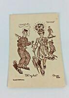 WW2 Male Soldier Female Nurse Antwerp Belgium 12/9/1944  Comic