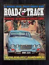 Road & Track Nov 1968 Ferrari 20 Years - Mercedes 300 SEL - Jaguar XJ - Porsche