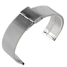 20mm 22mm Silver Stainless Steel Mesh Wrist Watch Band Strap Hook Buckle New