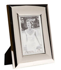 """Silver Photo Picture Frame 4x6"""" & 5x7"""" - Shiny Silver - Round Edge"""