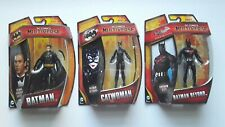 DC MULTIVERSE 4 inch lot Batman Unmasked Variant Batman Beyond Catwoman
