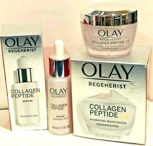 Olay Regenerist Collagen Peptide 24 Face Moisturizer+SERUM  Fragrance-Free