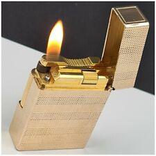 Briquet Dupont Paris small lighter gold.P art déco-gaz-Feuerzeug-打火机-n°13TJZ88