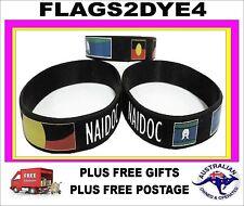 Aboriginal flag Torres Strait flag silicone wristband x1 NAIDOC + FREE gifts