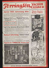 1920 ADVERTISEMENT Torrington Vacuum Cleaner Window Display Washing Machine