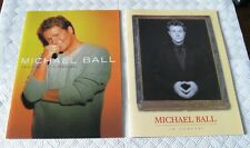 Michael Ball - 2 x Concert Programmes / Photo's & Used Tickets
