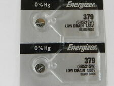 Energizer  379 SR521SW Button Cell Silver Oxide Watch Battery, 2Pc