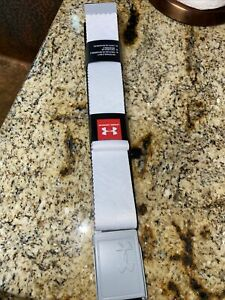 NWT Under Armour UA Golf Webbing 2.0 Men's Reversible Cut-to-Fit White Blue Belt
