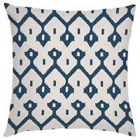Moroccan Blue Diamond Designer Print Outdoor Cushion Cover Waterproof Garden