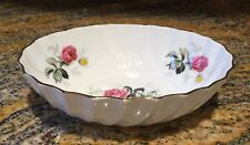 Vintage Adderley Fine Bone China England Oval Sweet Meat Dish Floral 5.5""