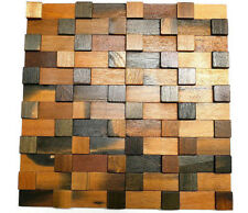 Decorative Tiles For Wall, Wood Wall Tiles, 3D Wall Art, Wood Mosaic Tiles