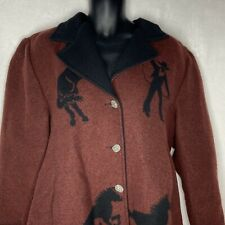 Wooded River Jacket XL Horse Cowboy Coat Wool Blend USA Western Pewter Buttons