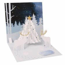 Pop-Up Christmas Card Trearures by Popshots Studios - White Tree