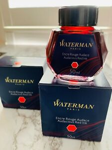 Waterman Bottled 50 ml. Audacious Red Ink; Fountain Pen Refill Ink; Calligraphy