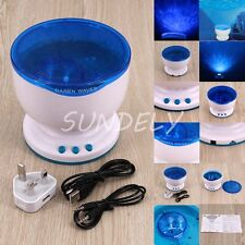 Aurora Master Projector Pot Night LED Light Ocean Wave Speaker Romantic Music UK