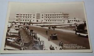 MORECAMBE REAL PHOTO POSTCARD MIDLAND HOTEL 1933       823
