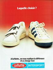 Publicité Advertising 127  1979  baskets Puma & Adidas la Hutte Intersport