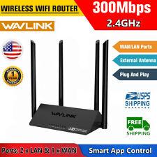 Wavlink N300 Wifi Route Wireless 2* Lan Smart Access Point 4 External Antennas