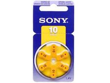 Sony Size 10 A10 10A Hearing Aid Batteries PR70 Zinc Air 1.4V 6pcs/pack PR10-D6A