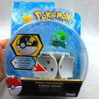 "New arrival 2"" Poke ball Bounce Pokeball with Pokemon figure toys TOMY Bulbasaur"